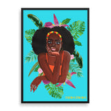 belte framed print by black-british artist rahana banana