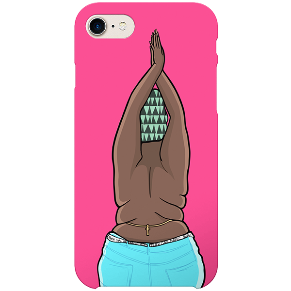 black girl magic iPhone case by artista amarela