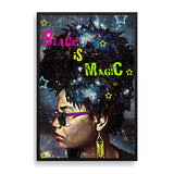 black is magic framed print by black artist delphine alphonse