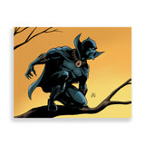 black panther colour art print by marcus kwame