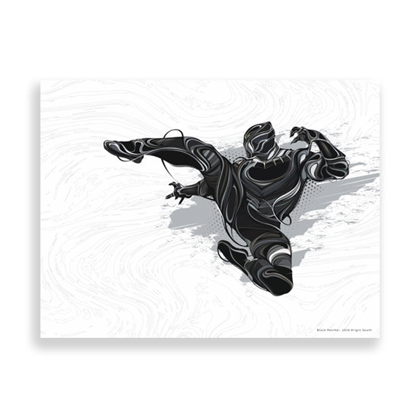 black panther art print by african artist emmanuel mdlalose