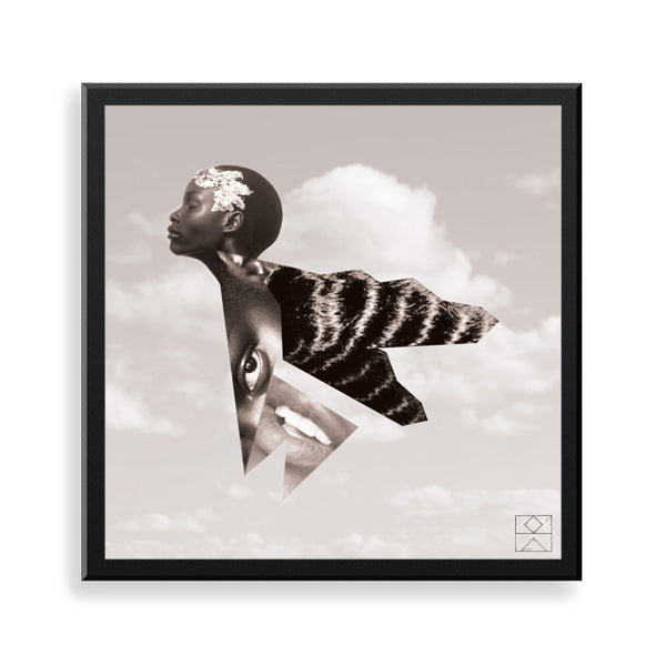 bliss framed print by black artist ebz