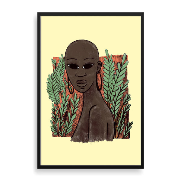 bold framed print by south-african artist thulisizwe mamba