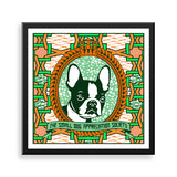 boston terrier framed print by black-british artist natasha lisa