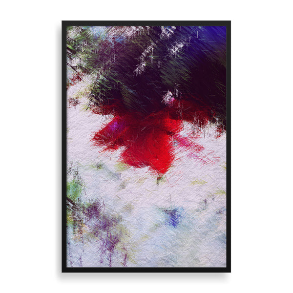 bright red flower framed art print by the reclusive blogger