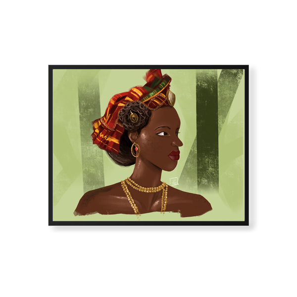Caribbean woman framed art print by Ly Tangi