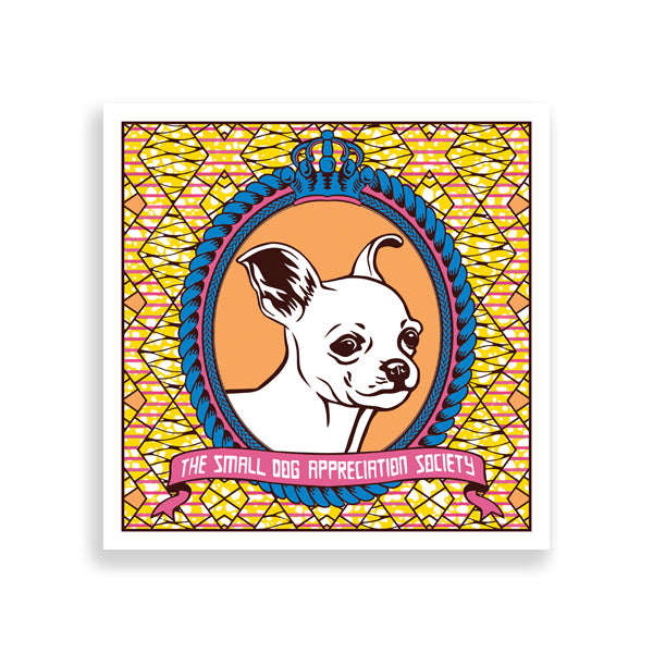 chihuahua art print by black-british artist natasha lisa