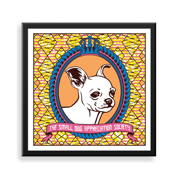 chihuahua framed print by black-british artist natasha lisa