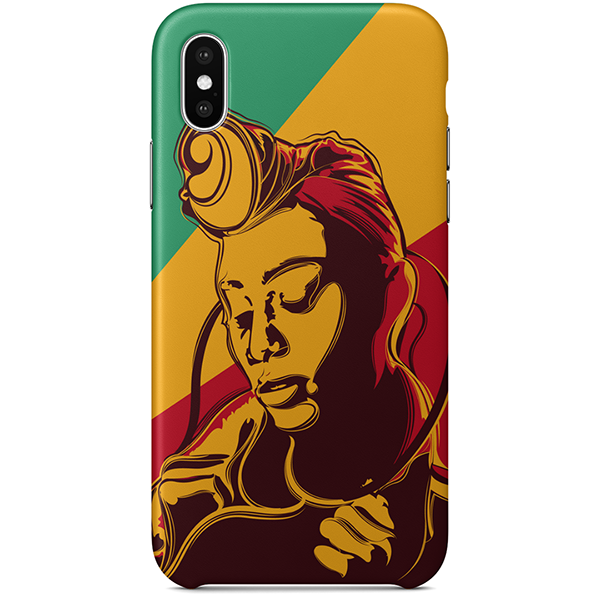 Colourful Pride iPhone X case by African artist Emmanuel Mdlalose