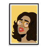 crying lady framed print by black-british artist nyanza d
