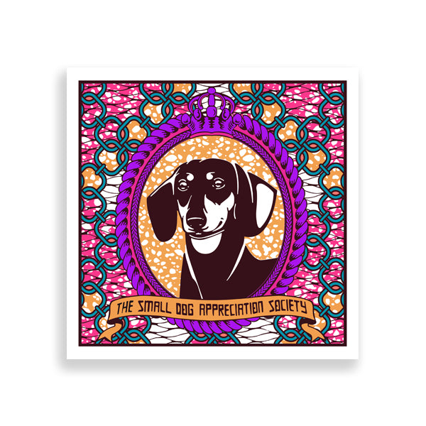 dachshund art print by black-british artist natasha lisa