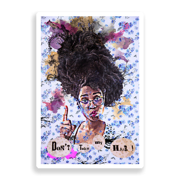 don't touch my hair limited edition art print by delphine alphonse