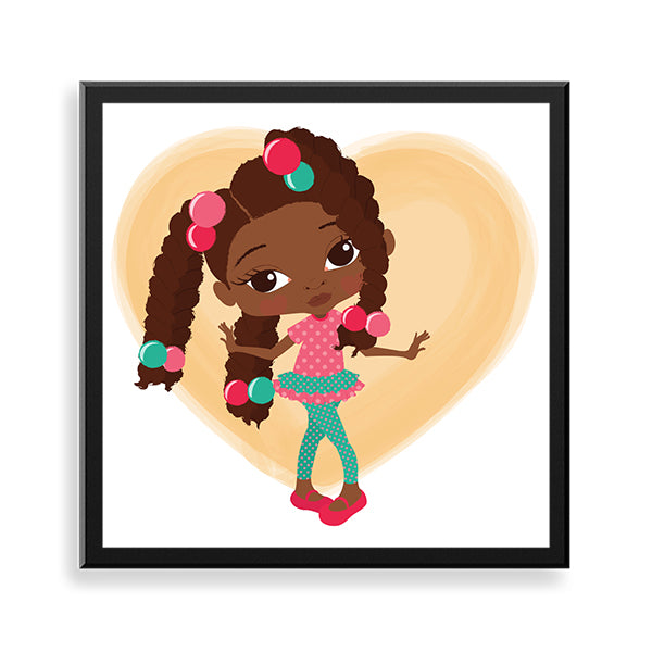 fayola black art framed print by Fefus Designs
