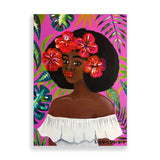 flower child art print by black-british artist rahana banana