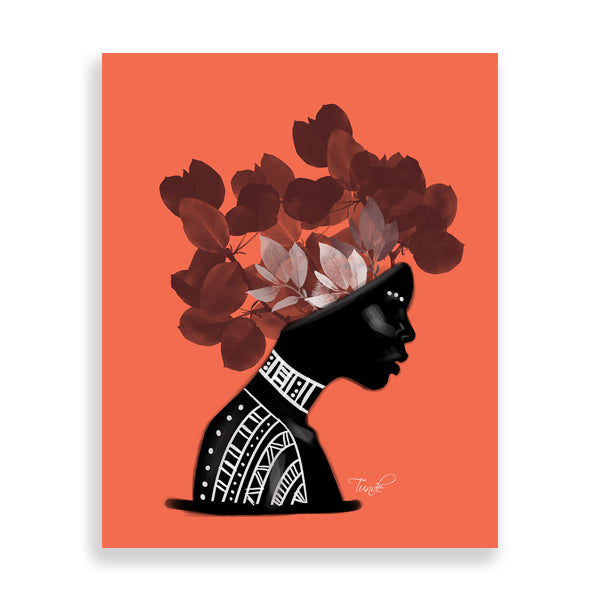 Flower art print by Tunde Omotoye