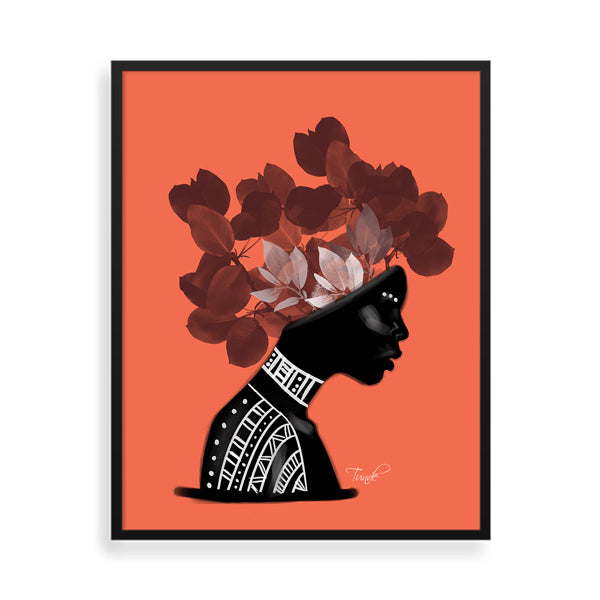 Flower framed art print by Tunde Omotoye