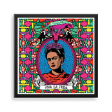 frida framed print by black-british artist natasha lisa