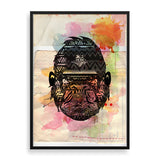 gorilla framed print by south-african artist lungile mbokane