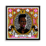 grace jones framed print by black-british artist natasha lisa