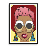 ice-cream shades framed print by black-british artist nyanza d