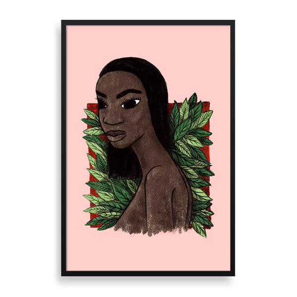 insta lisa framed print by south-african artist thulisizwe mamba