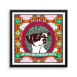 jack russell framed print by black-british artist natasha lisa