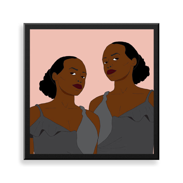 lupita framed print by black-british parys gardener
