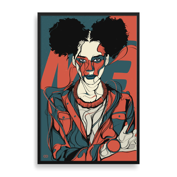 me1 framed print by south-african artist emmanuel mdlalose