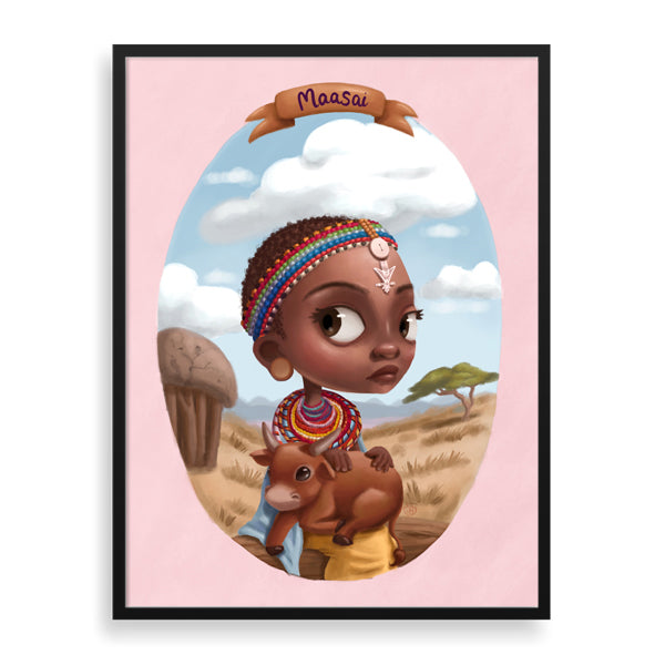 little birdie framed print by south-african illustrator dope lady kady