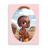 maasai art print by south-african artist dope lady kady