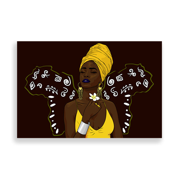 Melanin Power art print by Kaizeea