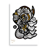 Mind of a buffalo art print by lawasi