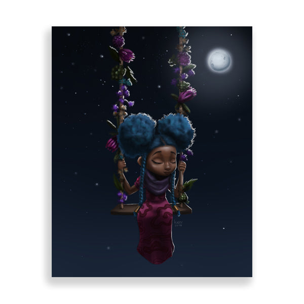 moonlight art print by south-african artist dope lady kady