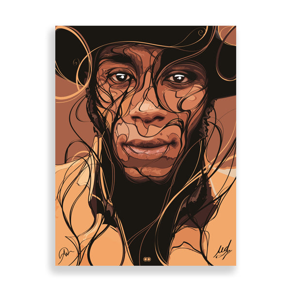 mos def art print by south-african artist emmanuel mdlalose