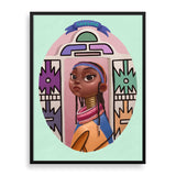 ndebele framed print by south-african illustrator dope lady kady