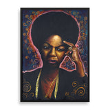 nina framed print by african-american illustrator marcus kwame