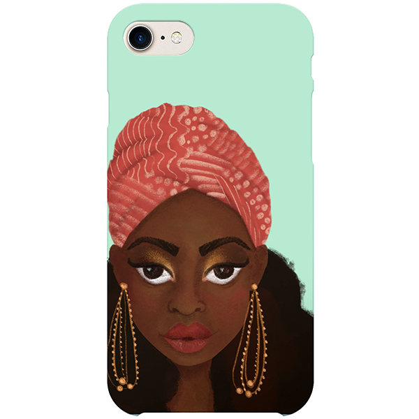 nubian iphone case by fefus designs