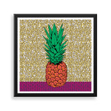 pineapple framed print by black-british artist natasha lisa