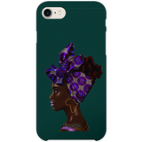 Purple Headwrap iPhone case