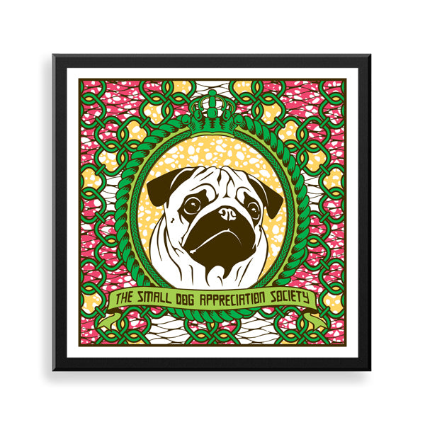 pug framed print by black-british artist natasha lisa