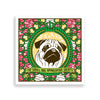 pug art print by black-british artist natasha lisa