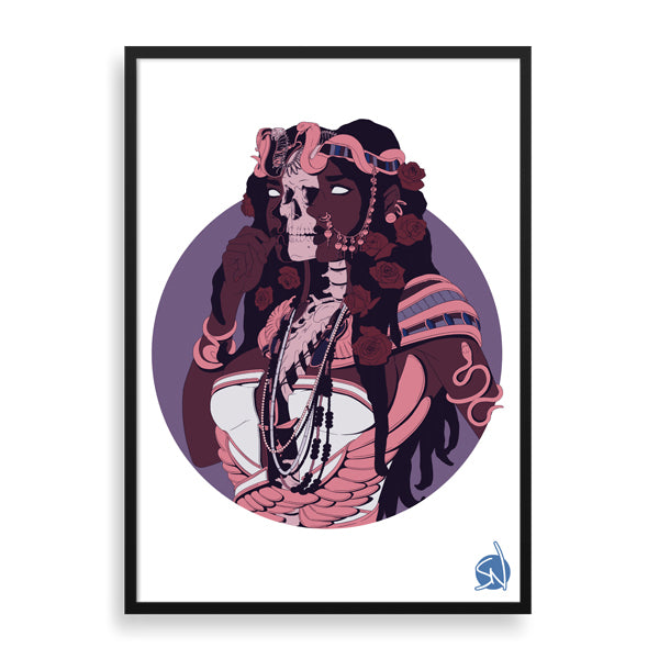 queen time framed print by south-african artist nkumelenis