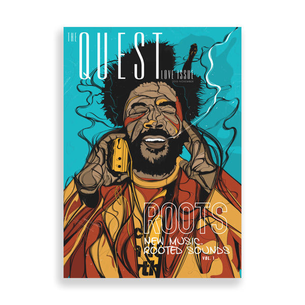 questlove art print by south-african artist emmanuel mdlalose