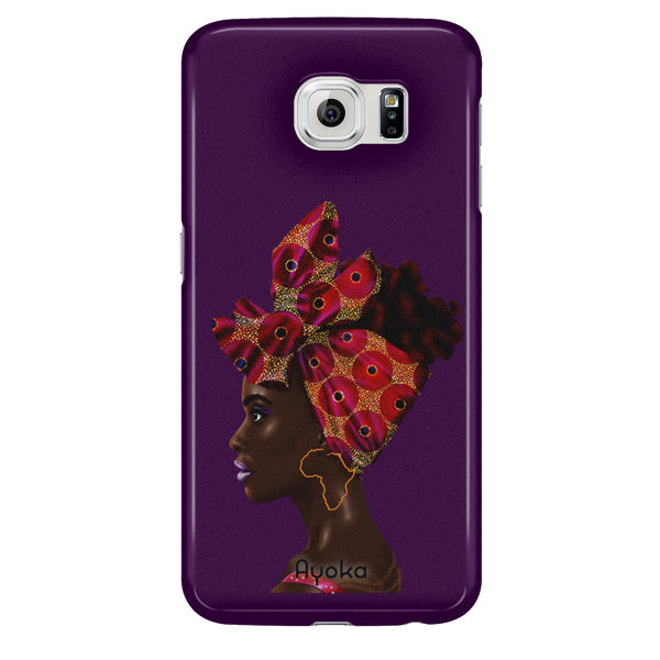 Red Headwrap Samsung case by Kaizeea