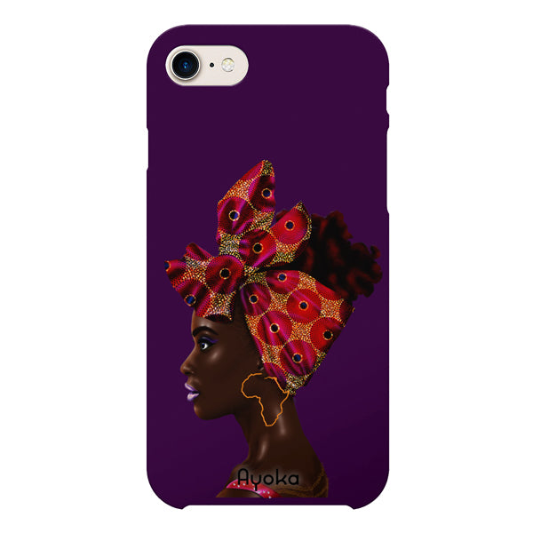 Red Headwrap iPhone case by Kaizeea