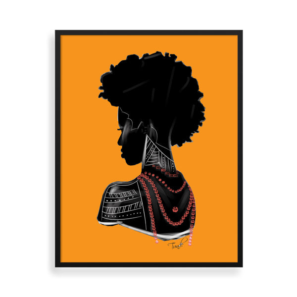 Roots framed art print by Tunde Omotoye