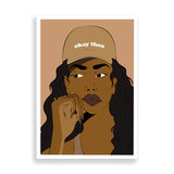 savannah art print by black-british artist nyanza d
