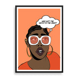 sup duper fly framed print by black-british artist nyanza d