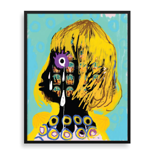 tears framed art print by eugene ankomah