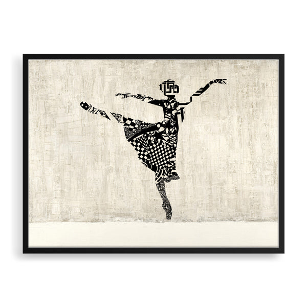 ballet framed art print by south-african artist lungile mbokane